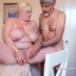 Outdated busty granny fucked and bottled by partygoer